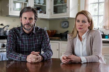 Stock Image of Josh Hamilton as Mr. Jensen and Amy Hargreaves as Mrs. Lainie Jensen