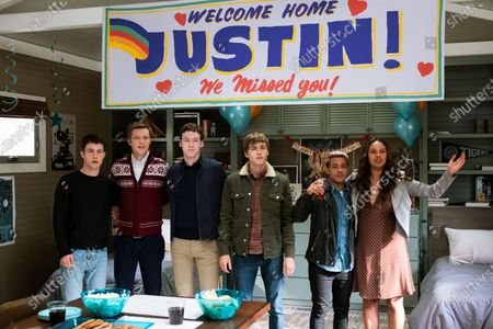 Dylan Minnette as Clay Jensen, Tyler Barnhardt as Charlie St. George, Devin Druid as Tyler Down, Miles Heizer as Alex Standall, Christian Navarro as Tony Padilla and Alisha Boe as Jessica Davis
