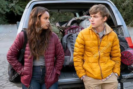 Alisha Boe as Jessica Davis and Miles Heizer as Alex Standall