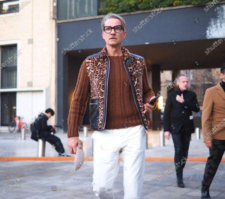 Editorial picture of Neil Barrett street style, Milan, Italy/Milan, Italy - 11 Jan 2020