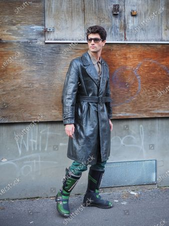 Milan, Italy, 11 January 2020: Marc Forne street style outfit before MARNI fashion show during Milano fashion week 2020