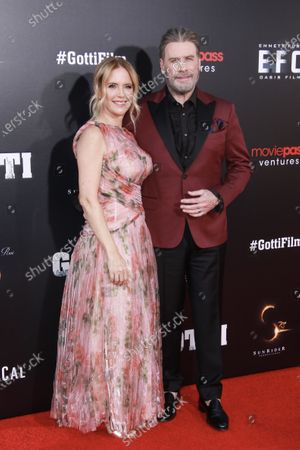 Kelly Preston and John Travolta at the New York Premiere of Gotti at SVA Theater