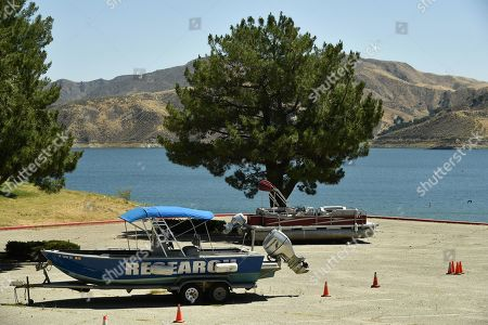 Ventura County command post at Lake Piru where a body has been recovered during the search for Naya Rivera
