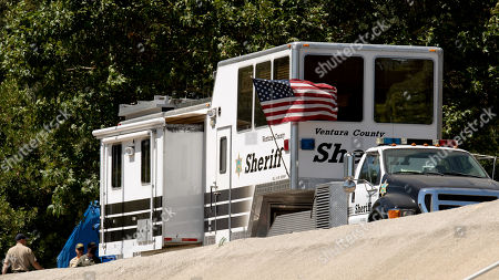 Onsite Command Post for the Ventura County Sheriffs