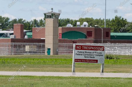 Stock Image of The entrance to the federal prison in Terre Haute, Ind., is shown . Daniel Lewis Lee, a convicted killer, was scheduled to be executed at 4 p.m. in the . He was convicted in Arkansas of the 1996 killings of gun dealer William Mueller, his wife, Nancy, and her 8-year-old daughter, Sarah Powell