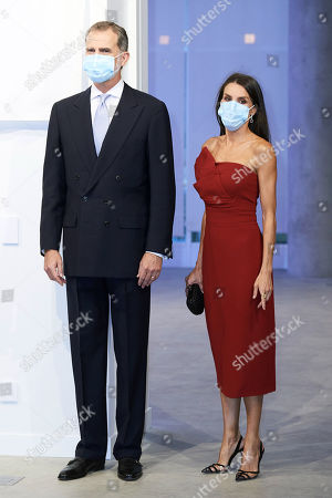 Stock Image of King Felipe VI of Spain, Queen Letizia of Spain attends a dinner in honour of 'Mariano de Cavia', 'Mingote' and 'Luca de Tena' Awards celebrating its 100 edition at ABC o