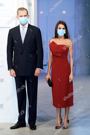 King Felipe VI of Spain, Queen Letizia of Spain attends a dinner in honour of 'Mariano de Cavia', 'Mingote' and 'Luca de Tena' Awards celebrating its 100 edition at ABC o