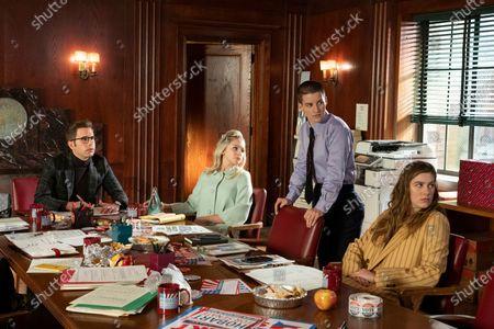 Ben Platt as Payton Hobart, Julia Schlaepfer as Alice Charles, Theo Germaine as James Sullivan and Laura Dreyfuss as McAfee Westbrook