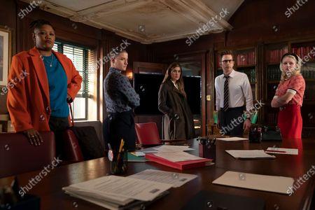 Rahne Jones as Skye Leighton, Theo Germaine as James Sullivan, Laura Dreyfuss as McAfee Westbrook, Ben Platt as Payton Hobart and Julia Schlaepfer as Alice Charles