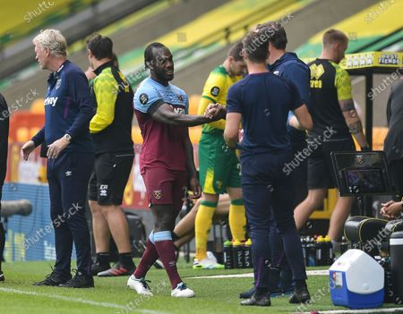 Editorial picture of Norwich v West Ham United, Premier League football match, Carrow Road, UK - 11 Jul 2020