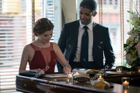 Anna Kendrick as Darby and Kingsley Ben-Adir as Grant
