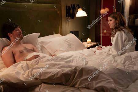 Stock Photo of John Gallagher Jr as Luke Ducharme and Anna Kendrick as Darby