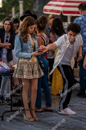 Stock Photo of Anna Kendrick as Darby and Gus Halper as Danny Two Phones