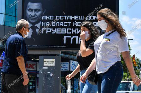 Editorial photo of Parliamentary election in North Macedonia, Skopje, Republic Of North Macedonia - 14 Jul 2020
