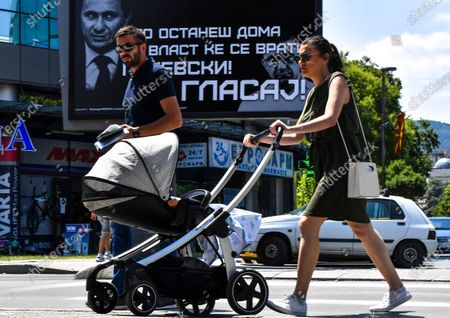 Editorial image of Parliamentary election in North Macedonia, Skopje, Republic Of North Macedonia - 14 Jul 2020
