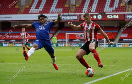Reece James of Chelsea and Jack O'Connell of Sheffield United
