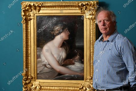 Editorial image of Admiral Lord Nelson's mistress Lady Hamilton painting, Wick Antiques Lymington, UK - 06 Jul 2020