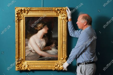 Editorial picture of Admiral Lord Nelson's mistress Lady Hamilton painting, Wick Antiques Lymington, UK - 06 Jul 2020