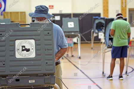 Editorial photo of Virus Outbreak Election Voting, Houston, United States - 14 Jul 2020