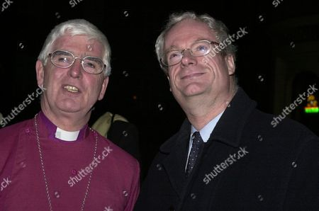 Secretary Of State For Culture Chris Smith (now Baron Smith Of Finsbury) With The Rt Rev Thomas Butler The Lord Bishop Of Southwark At The Recently Restored Southwark Cathedral. Lord Smith