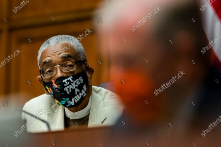 Stock Image of House Commerce Subcommittee Chairman Bobby Rush, D-Ill., listens to Energy Secretary Dan Brouillette testify during a hearing on oversight of the Department of Energy during coronavirus pandemic on Capitol Hill, in Washington