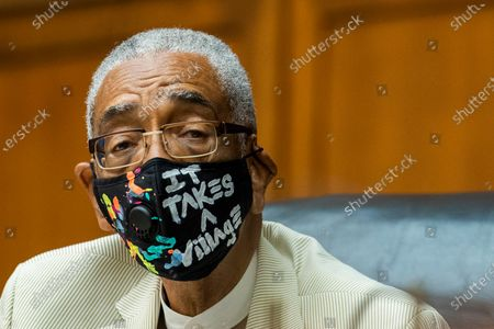 Stock Picture of House Commerce Subcommittee Chairman Bobby Rush, D-Ill., listens to Energy Secretary Dan Brouillette testify during a hearing on oversight of the Department of Energy during coronavirus pandemic on Capitol Hill, in Washington
