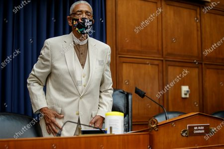 Subcommittee Chairman Bobby Rush arrives to hear the testimony of US Secretary of Energy Dan Brouillette before the House Committee on Energy and Commerce's hearing on 'Oversight of DOE During the COVID-19 Pandemic' on Capitol Hill in Washington, DC, USA, 14 July 2020.
