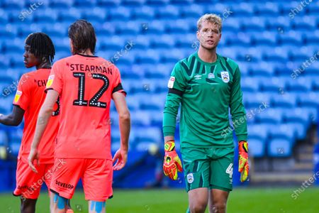 Stock Image of Huddersfield Town goalkeeper Jonas Lossl (49) reacts during the EFL Sky Bet Championship match between Sheffield Wednesday and Huddersfield Town at Hillsborough, Sheffield