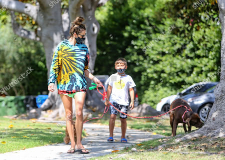 Editorial image of Alessandra Ambrosio out and about, Los Angeles, USA - 14 Jul 2020