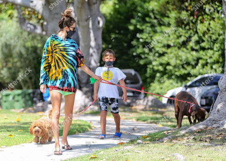 Editorial photo of Alessandra Ambrosio out and about, Los Angeles, USA - 14 Jul 2020