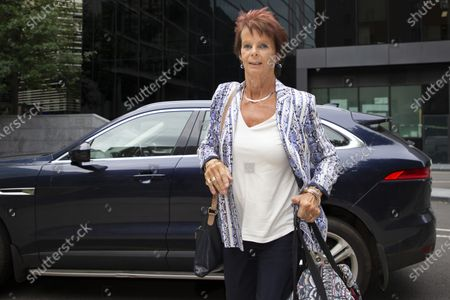 Former Minister for Women Anne Milton arrives at Southwark Crown Court after being dropped off by former MP Margot James . It is not known whether she is involved in the Charlie Elphicke case.