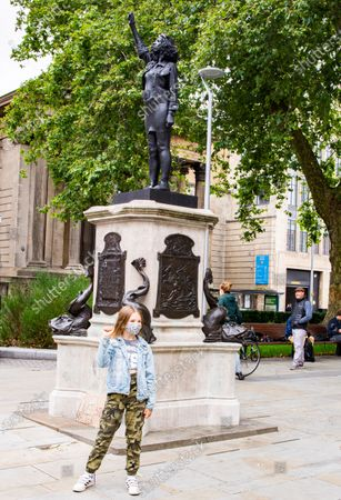 Editorial photo of Black Lives Matter protester statue replaces Edward Colston, Bristol, UK - 15 Jul 2020