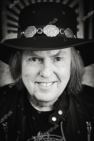 Portrait of English musician Dave Hill, guitarist with rock group Slade, photographed in Wolverhampton, England