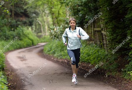 Marathon Runner Tracey Morris At Home In Leeds Yorkshire. Tracey Morris Who Surprised Herself And The Rest Of The Country By Winning A Place In Britain's Olympic Team With Her Performance At The Flora London Marathon.
