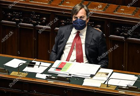 Vincenzo Amendola, minister for Relations with European Union, attends a session of the Chamber of Deputies (Camera dei deputati) in Rome, Italy, 15 July 2020.