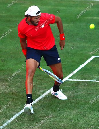 Stock Photo of Matteo Berrettini of Italy in action against Dominic Thiem of Austria during their men's final match at the bett1ACES tennis tournament at the Steffi-Graf-Stadium in Berlin, Germany, 15 July 2020. The tournament will be held under strict hygiene restrictions made to cope with the spread of the Coronavirus SARS-CoV-2 which causes the COVID-19 disease.