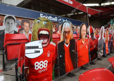 Stock Picture of Cardboard fans are in the Brian Clough stand