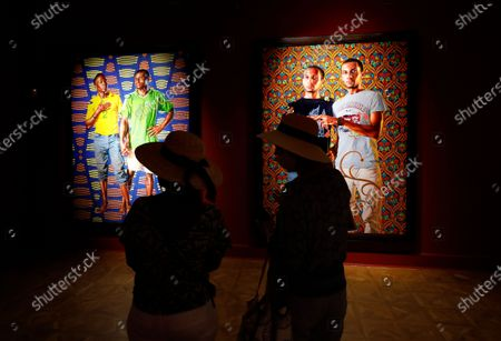 Editorial photo of Kehinde Wiley art exhibit in Cannes, France - 15 Jul 2020
