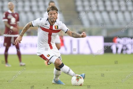 Olympic Grande Torino Stadium, Turin, Piedmont, Italy; Lasse Schone of Genoa FC on the ball; Serie A Football, Torino versus Genoa.