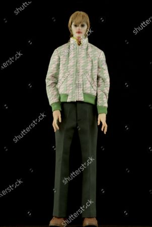 A Model wearing an outfit from the Menswear collections, summer 2021, original creation, from the house of Walter Van Beirendonck