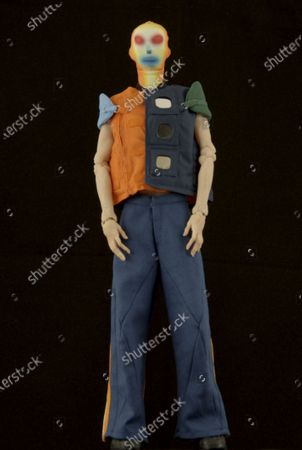Stock Photo of A Model wearing an outfit from the Menswear collections, summer 2021, original creation, from the house of Walter Van Beirendonck