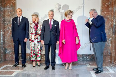 Prince Lorenz, Princess Astrid, King Philippe, Queen Mathilde and Prince Laurent