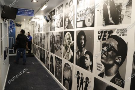 The entrance hallway to the Motown Museum is seen, in Detroit. The Detroit building where Berry Gordy Jr. built his music empire reopened its doors to the public on Wednesday. It had been closed since March due to the coronavirus pandemic