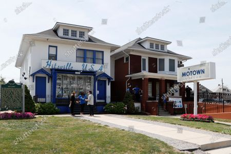 The exterior view of the Motown Museum is seen, in Detroit. The Detroit building where Berry Gordy Jr. built his music empire reopened its doors to the public on Wednesday. It had been closed since March due to the coronavirus pandemic