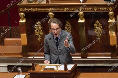 Gilles Le Gendre. French Prime Minister Jean Castex gives a speech to present his programme at the National Assembly.