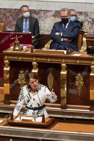 Valerie Rabault. French Prime Minister Jean Castex gives a speech to present his programme at the National Assembly.