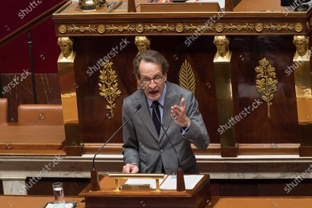 Stock Picture of Gilles Le Gendre. French Prime Minister Jean Castex gives a speech to present his programme at the National Assembly.