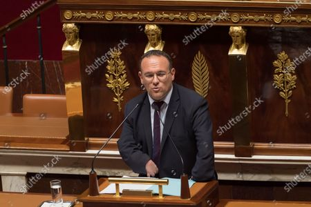 Damien Abad. French Prime Minister Jean Castex gives a speech to present his programme at the National Assembly.