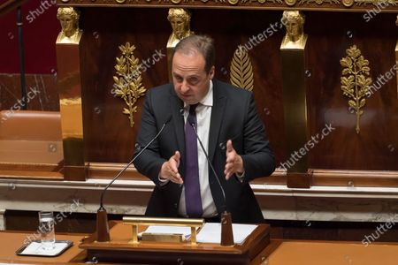 Jean-Christophe Lagarde. French Prime Minister Jean Castex gives a speech to present his programme at the National Assembly.
