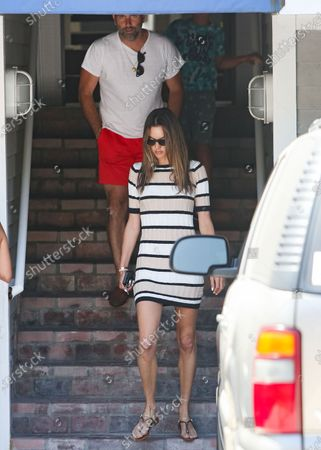 Stock Picture of Alessandra Ambrosio, her ex-fiance, Jamie Mazur, and their son Noah Phoenix Mazur